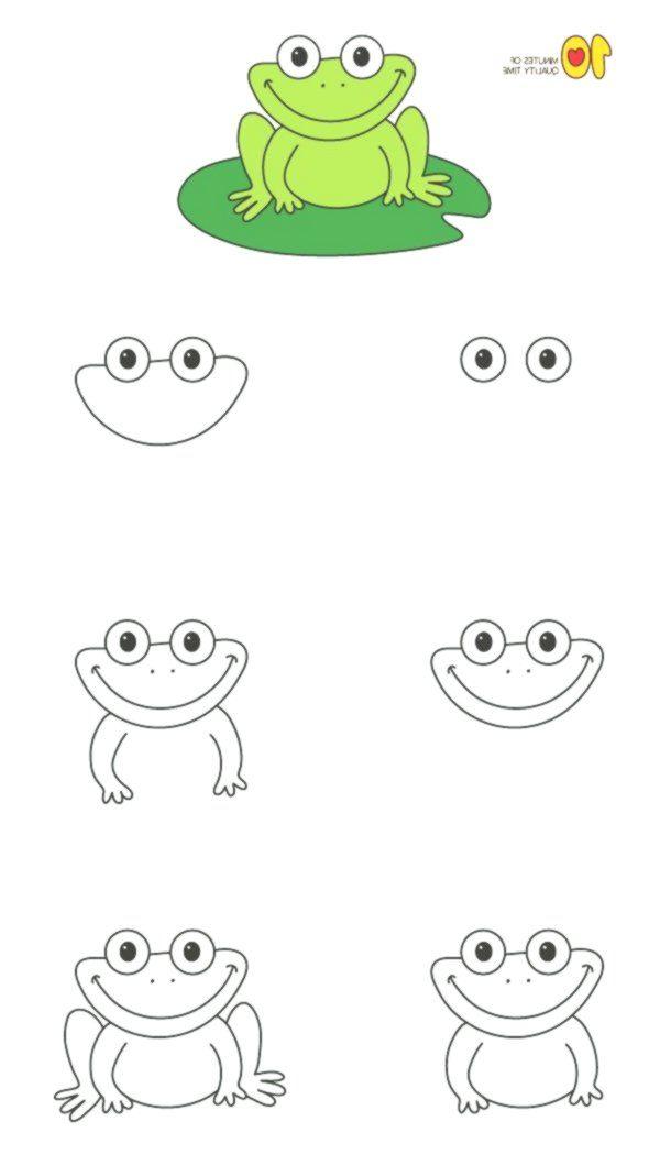 Wie zeichnet man einen Frosch Schritt für Schritt für ...