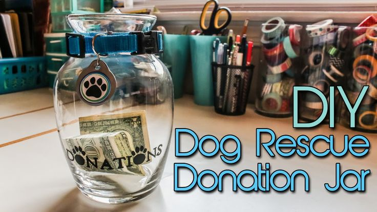 Watch how I made this cute, easy and very affordable donation jar for a dog rescue.
