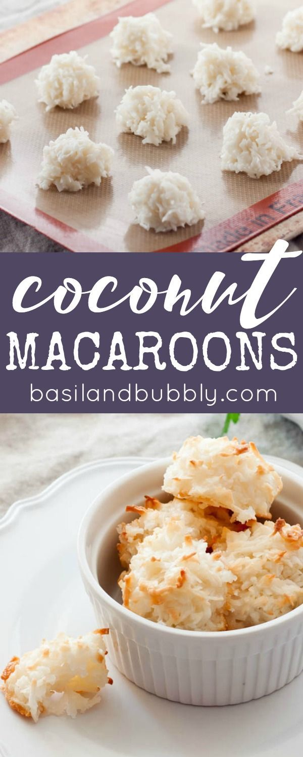 Coconut Macaroons are always a part of our Easter dessert spread. This recipe is super easy too!