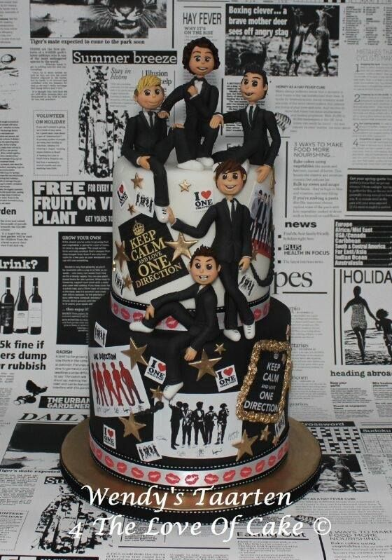 one direction cake. Lol. I bet Haylee would love this.