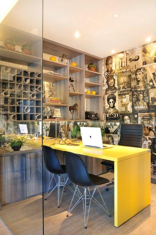 Projeto Comercial - Moderno Escritório de Publicidade para Incorporadora Norfin #quitetefaria #home office #sala do chefe