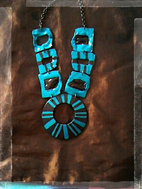 necklace   handmade with recycled slides collana realizzata con diapositive riciclate e ciondolo centrale,dipinta a mano con acrilici  #fashion #style #recycled #riciclo #diapositive #creative #photo #green #recycling #ecologic #hand #made #handmade #slides #necklace
