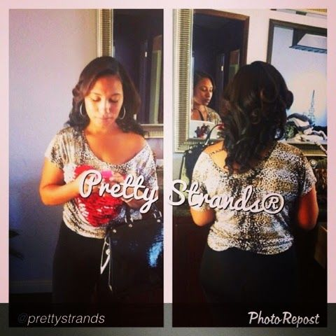 """Don't let your """"Pretty"""" hurt!!! by @prettystrands """"Boutique owner @everythingmrspennloves came by yesterday to get dolled up... #allnatural #prettystrands  #nomakeup #nohairadded #nofilter............... When my girl Coco touches my hair I know I'm going to be whipped!!! I hate when I'm away from her because she keeps my hair healthy and strong with her """"PrettyStrands"""" oils!!! I literally have to hide my oil because my mom and granny are......read more at EverythingMrsPennLoves.com"""