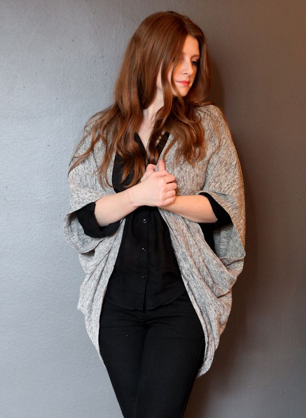 TRUE BIAS: DIY COCOON CARDIGAN: It's a fairly simple pattern, really, with such a striking result.