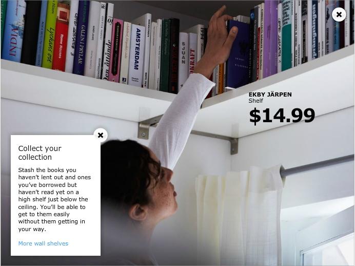 high shelf    ceiling  perimeter