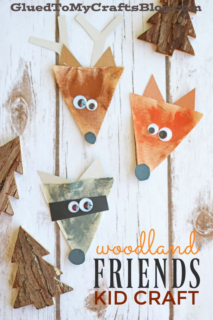 Arpillera Woodland Creatures - Kid Craft
