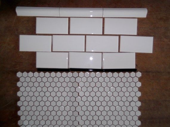 Subway and honeycomb tiles. I will have them in my house one day