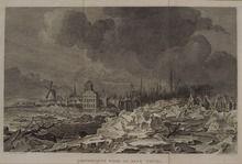 Prenten (Gelders Archief) IJsopkruijing voor de stad Thiel, 1800