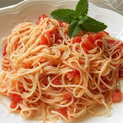 Tomato And Garlic Pasta 1 8 Ounce Package Angel Hair