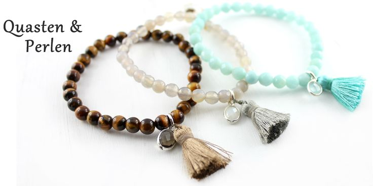 Edelsteinarmband ❉ Perlen- Armbänder aus Perlen und Edelsteinen oder Silber bestellen _ Geschenkidee Schmuck Schweiz