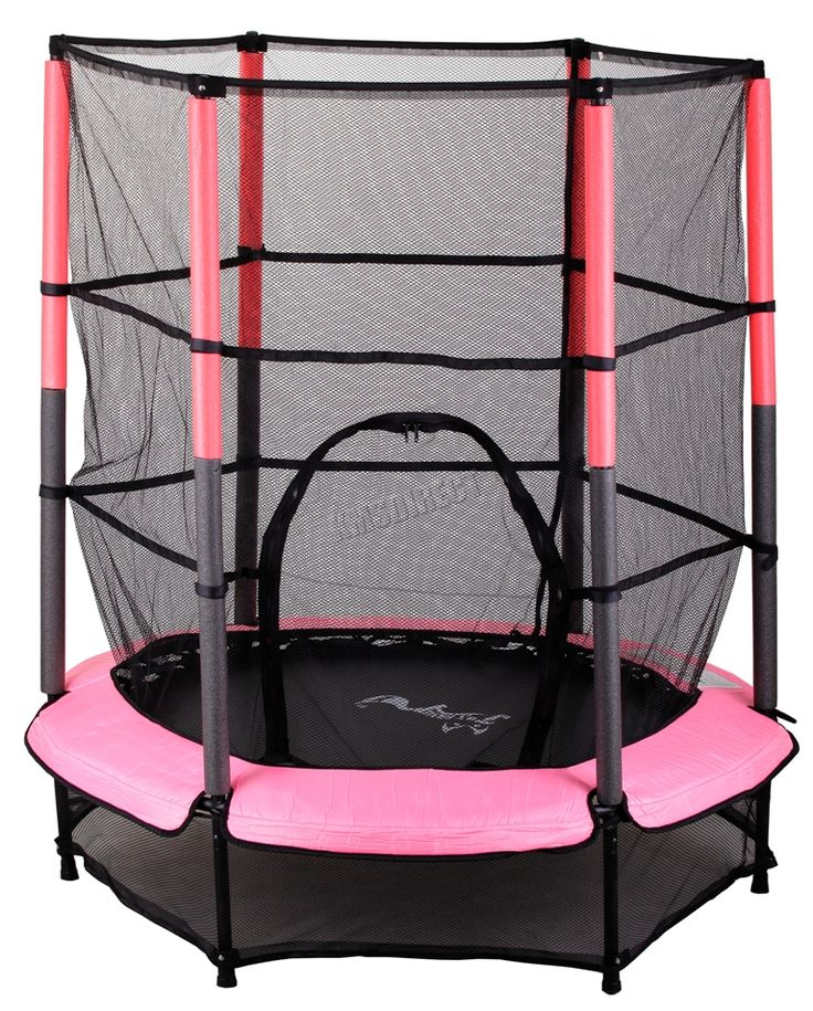 Exterior: Varnished 8ft Trampoline With Enclosure Cover from Outdoor Trampoline With Enclosure