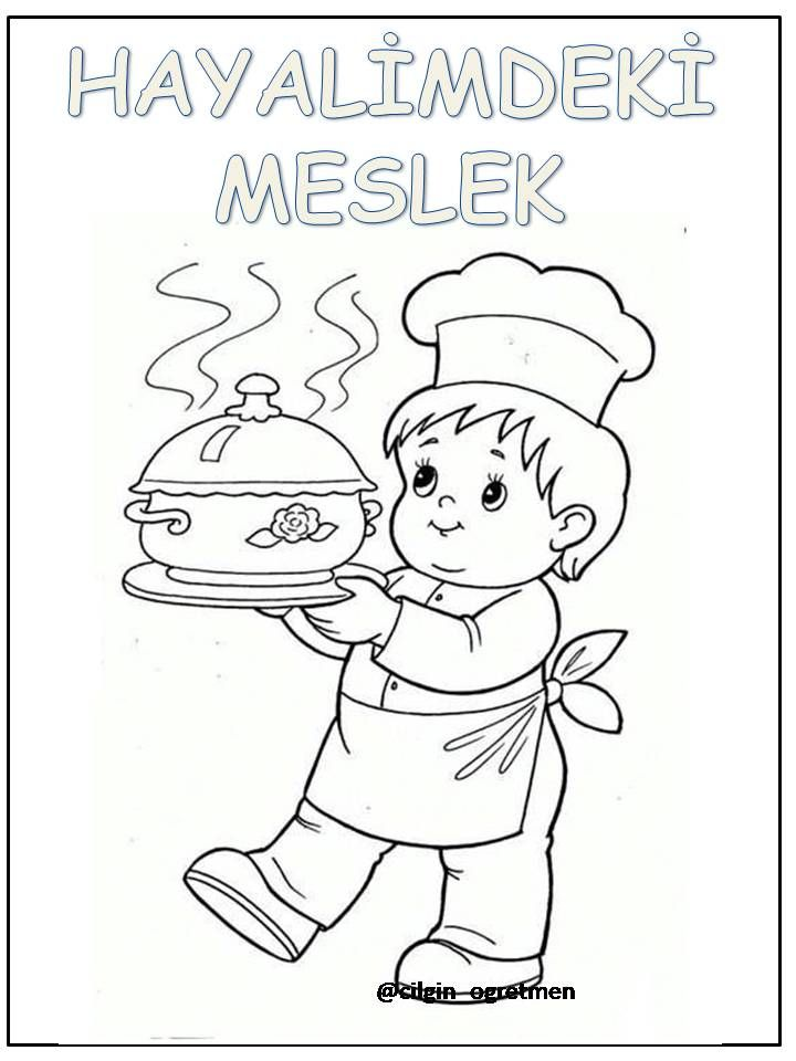 Meslekler Meslekler Crafts For Kids Preschool Coloring Pages
