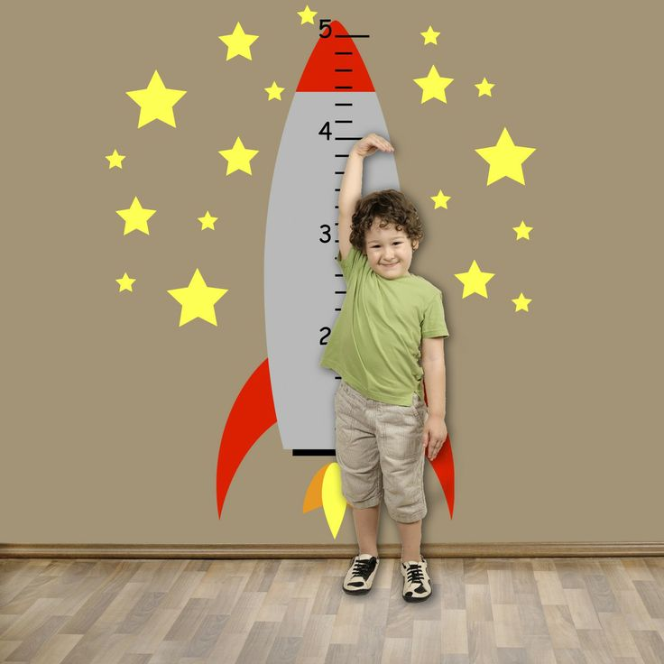 rocket decorations for kids rooms | FREE SHIPPING Fun Kids Growth Chart - Rocket Ship Blasting Off Wall ...