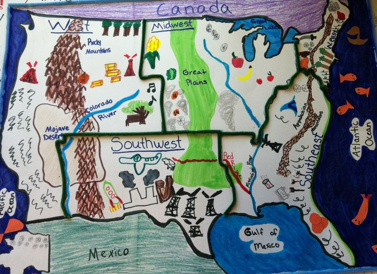 Five regions of the United States-student project