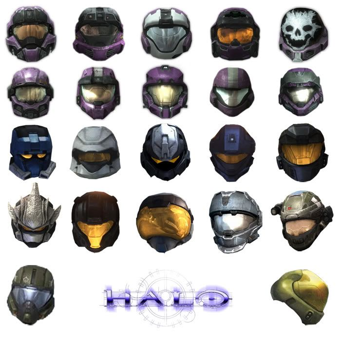 All Halo Reach Helmets | Halo Helmets