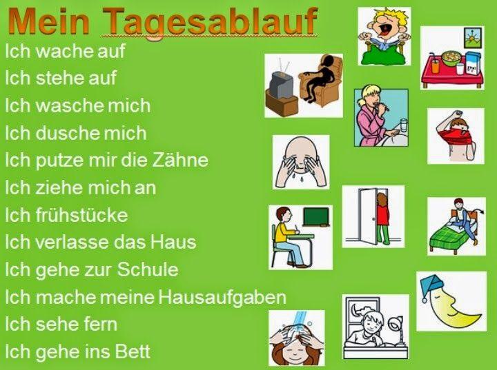Deutsch mit Frau Virginia D'Alò: Tagesablauf - trennbare Verben