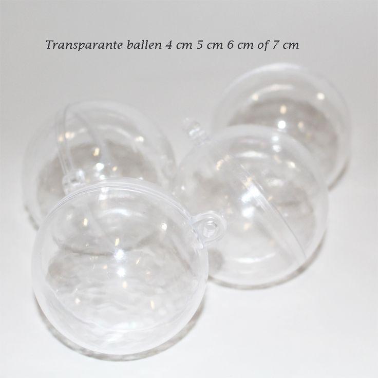 Transparante ballen voor december