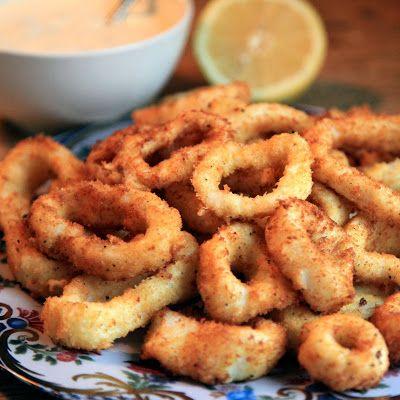 Calamaresringen * octopus rings * calamares - Kijk voor het recept op liefdevoorlekkers.
