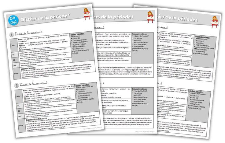 Fichier enseignant - Dictées CM1-CM2