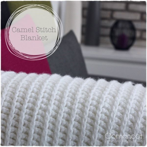 Look! more camel stitch! I just love the faux knit rib effect, it works so beautifully on a large scale piece such as this. This blanket took me ages to finish because I started out making it super...