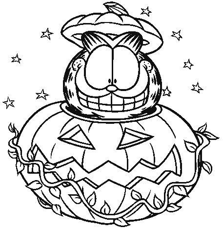 265 best halloween activities & games images on pinterest ... - Garfield Halloween Coloring Pages