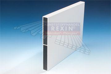 REXOboard Aluminium-Balkonbretter in weiß glänzend