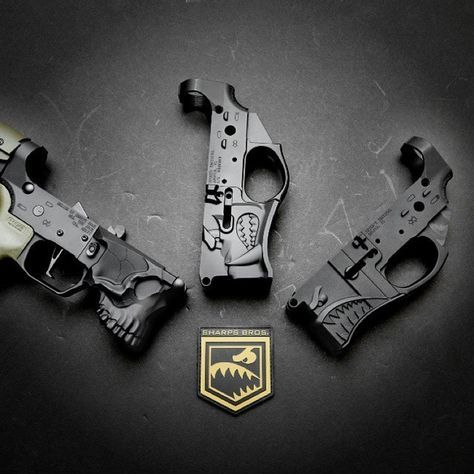 """Sharp Bros. / Spike's Tactical """"The Jack"""" From the same manufacturer who designed the Hellbreaker and Warthog, the Jack is a billet AR-15 lower with a stylized skull design. Definitely going to be the..."""