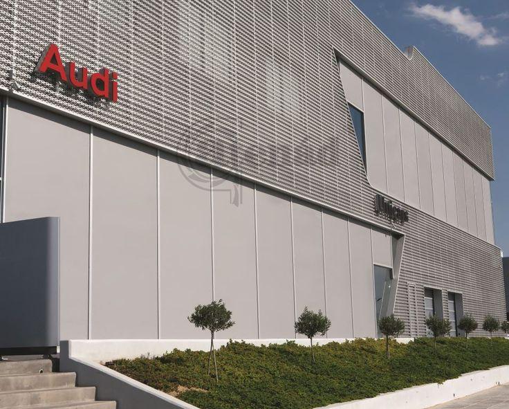 Gyárak nagy felületű ablakainak árnyékolására kiváló megoldás a zipzáras Fixscreen.