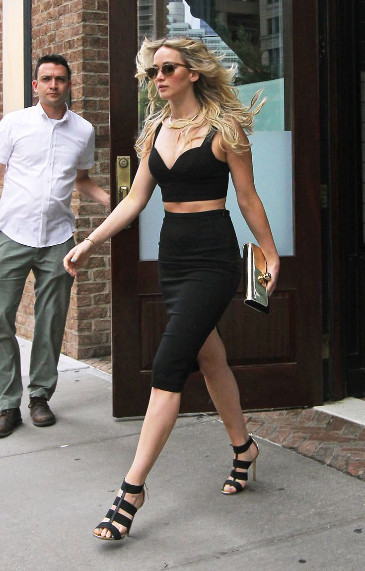 The Academy Award–winning actress Jennifer Lawrence made the festival girl staple look polished in the city.