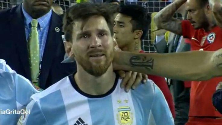 Messi Llorando Partido Copa América Centenario USA 2016