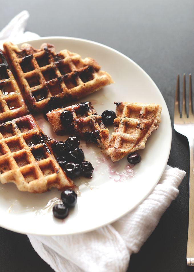 Lemon Blueberry Waffles {Vegan, Gluten Free} | Minimalist Baker