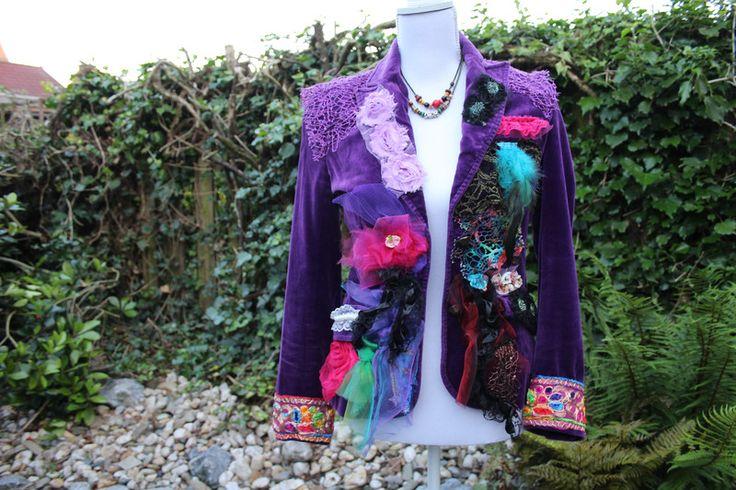 Blazers - Wearable Art Fashion , purple blazer , size S - Een uniek product van 2Cwear op DaWanda