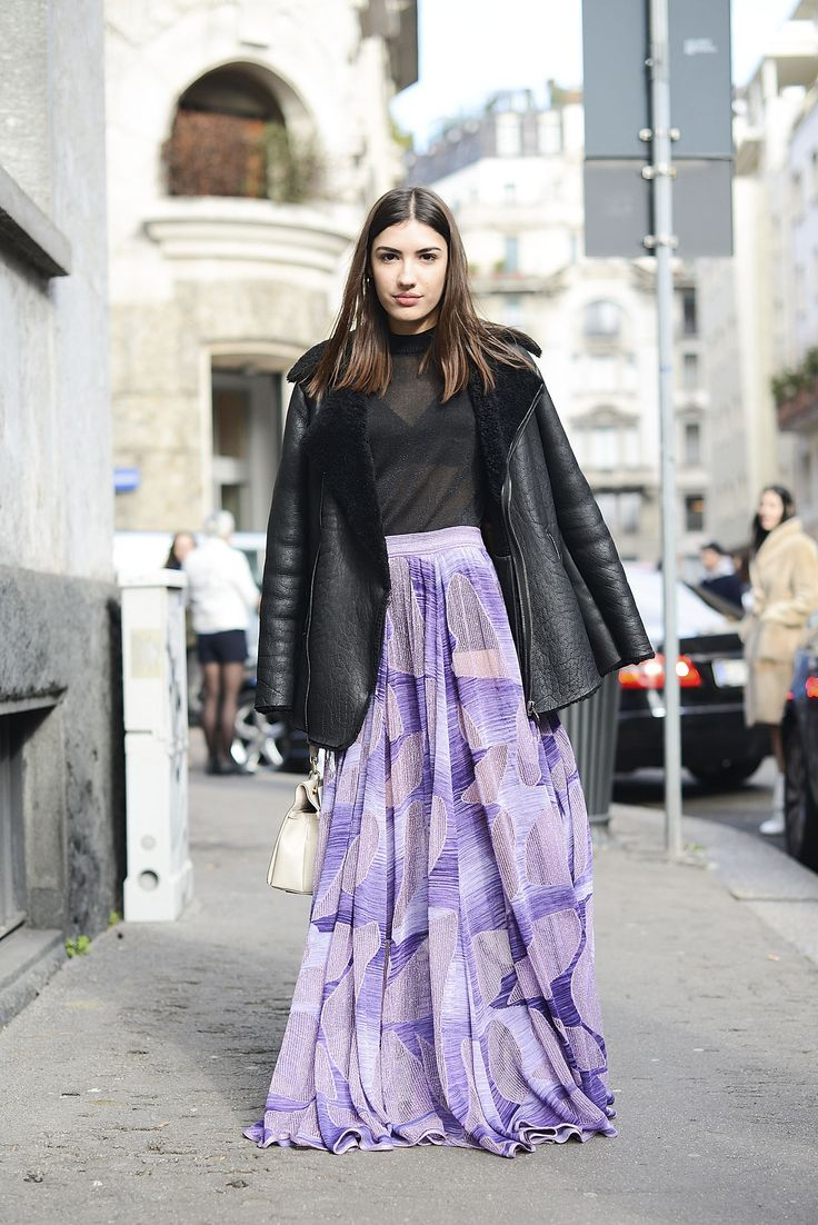 Maxi skirts work for pretty much every season. Go bare underneath or pull on a pair of leggings: no one will ever know.