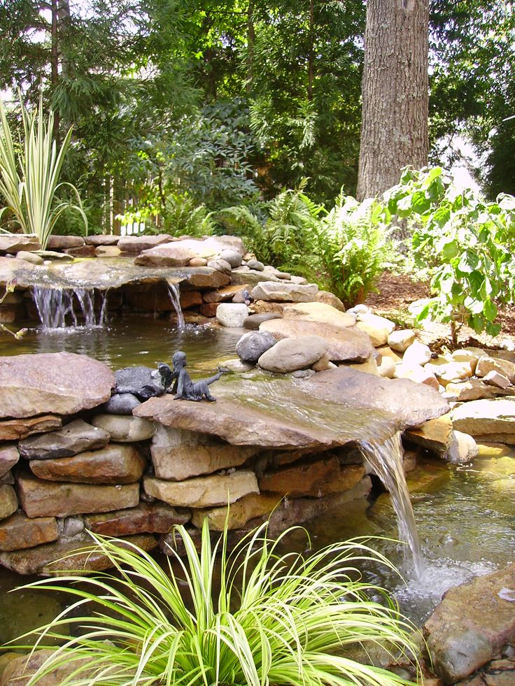 52 best images about waterfall pond ideas on pinterest for Outdoor pond