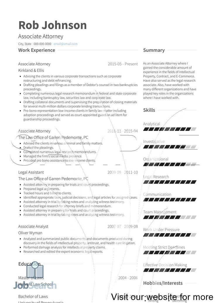 Associate attorney resume sample 2020 law lawyer resume