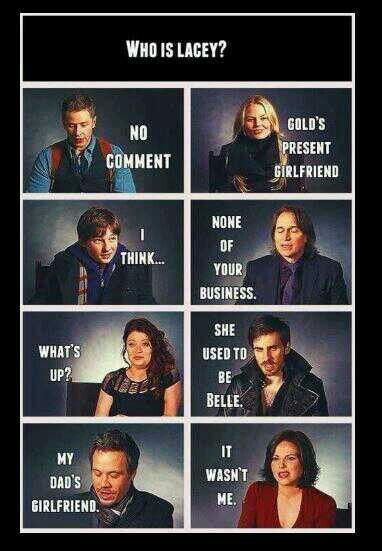 """I love this cast!>I don't know whether I prefer the fact that only Hook knew what to call her, Josh Dallas's """"no comment,"""" or Regina's """"It wasn't me."""" Even though it kinda was."""