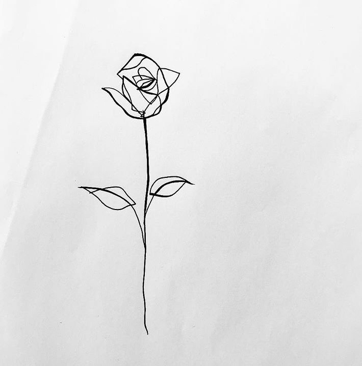 Gingerjoetattoo Continuous Line Rose With Images Tattoos