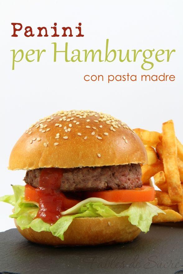 Panini per hamburger con pasta madre