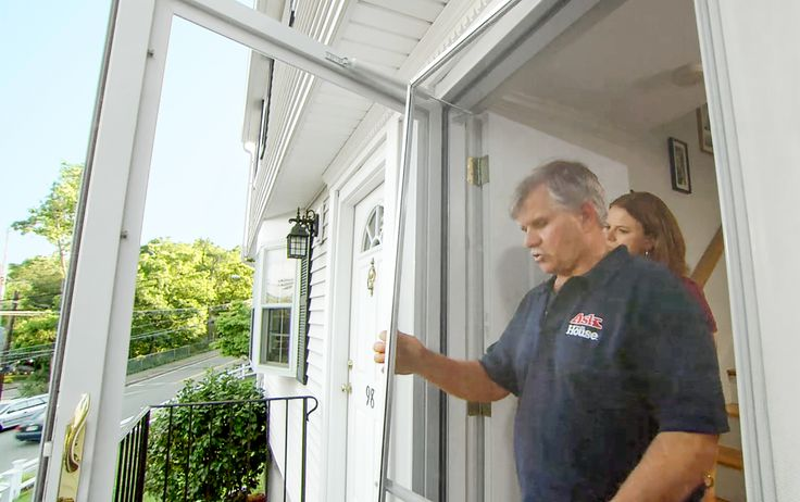 Tom Silva has some advice for preventing heat damage caused by glass storm doors to existing exterior doors