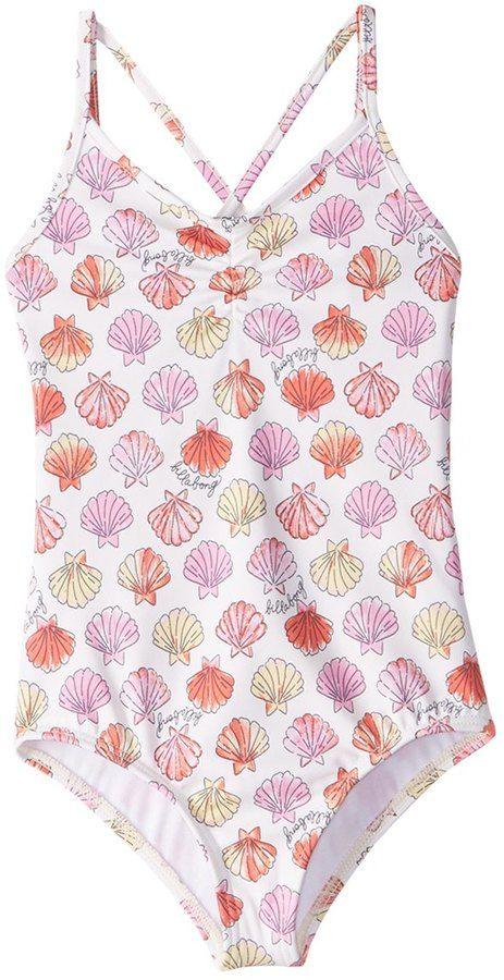 Billabong Girl's Seeing Shells One Piece Swimsuit (414) - 8160195