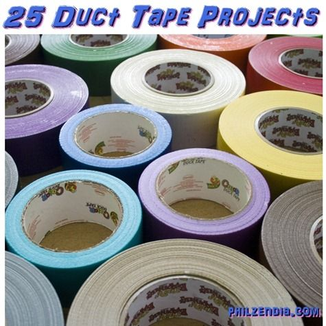 25 Duct Tape Projects Even You Can Do- the clutch is awesome.