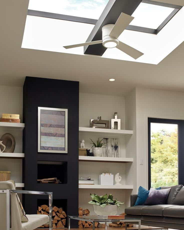 A Simple But Dramatic Contemporary Fan, The Monte Carlo Vision II Ceiling  Fan Is Well Suited For Nearly Any Decor. Itu0027s Unadorned Design Keeps Your  Decor ...
