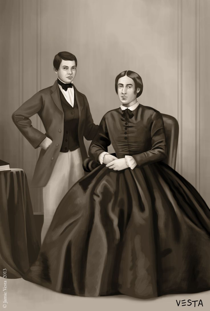 Ms Prior and her husband, 1860s                                       Photo from the old days.