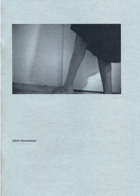 Silent Chromatism Photozine / B&W photographs print on metalized paper 110gr / 145mm x 210mm / 24 pages Published on February 2014  by Sarah Edwards