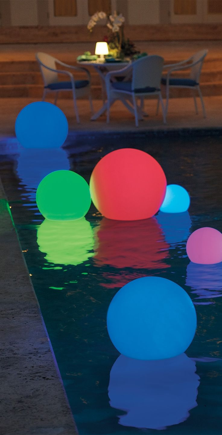 With These Globes Glowing In The Garden Along Deck Or Pool