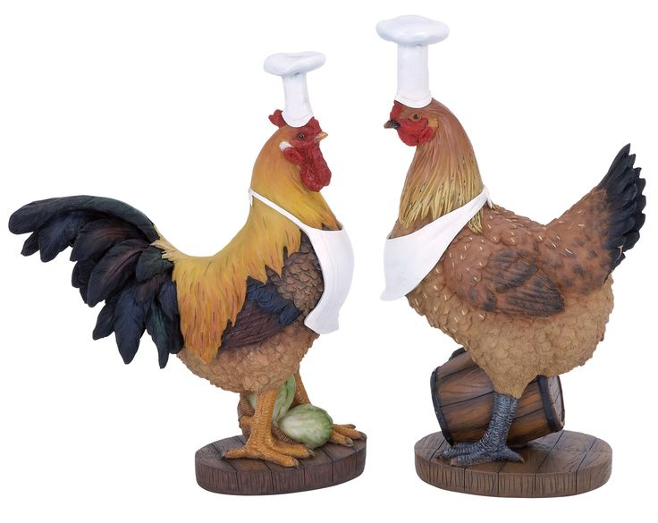Woodland Imports 2 Piece Rooster Chef Figurine & Reviews | Wayfair