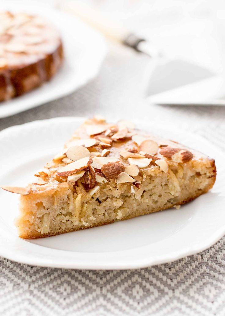 Grain-Free Apple Honey Cake! Made with almond flour, eggs, honey, apples, and spices. Make it a day ahead or whip it up at the last minute! (Grain-free, gluten-free, dairy-free)