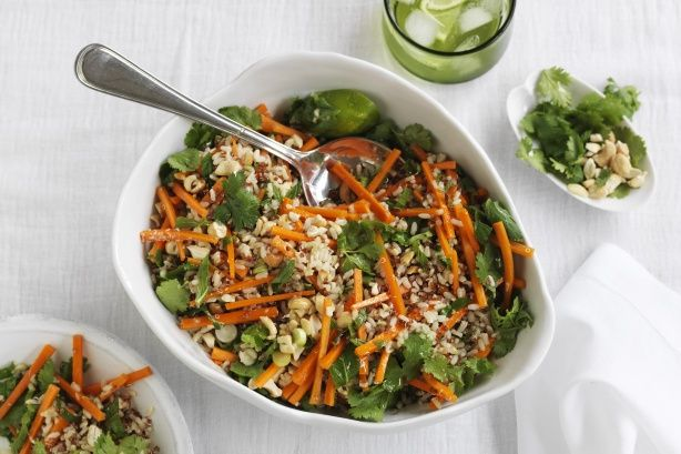 This refreshing Thai rice & quinoa salad is proudly brought to you by SunRice and taste.com.au.