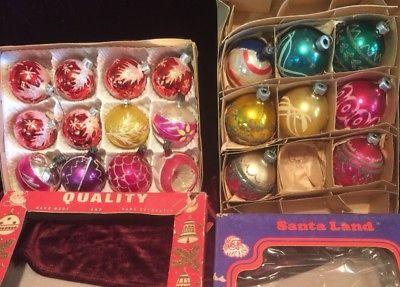 20 Vintage Mercury Glass Christmas Ornaments Poland Germany Shiny Brite
