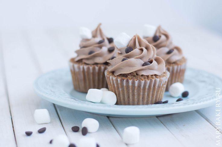 Шоколадные капкейки с шоколадным кремом | Mary Bakery